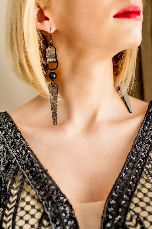Liene Zeiliša ādas auskari