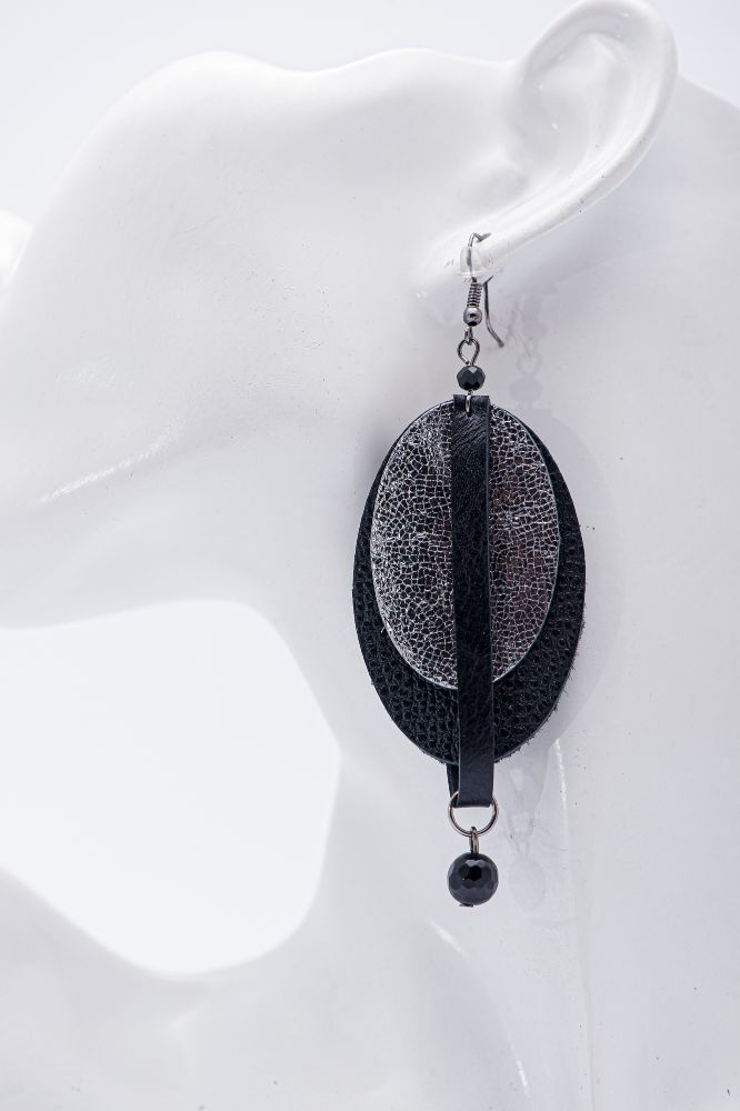 earrings out of leather