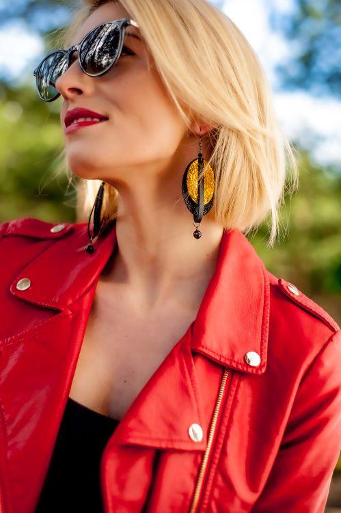 Earrings made in Latvia