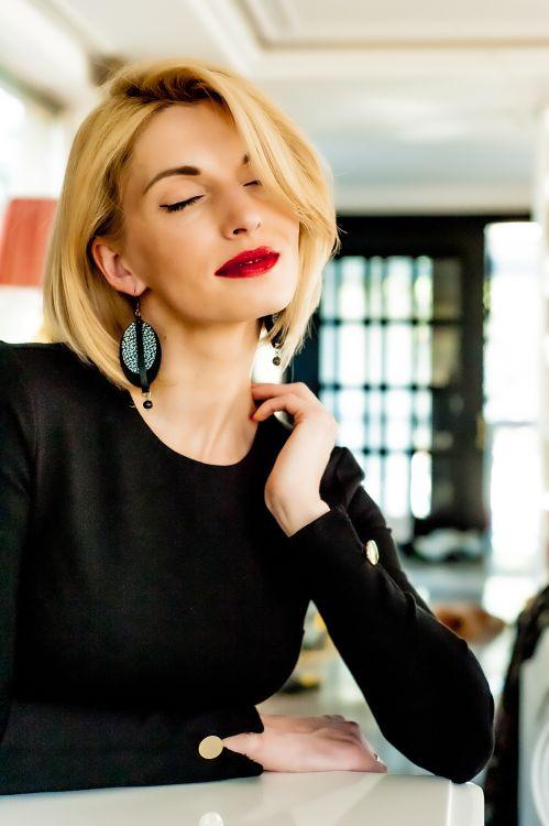 Bautiful leather earrings