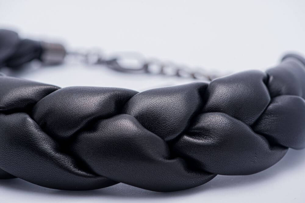 Latvian designer - necklace from genuine leather