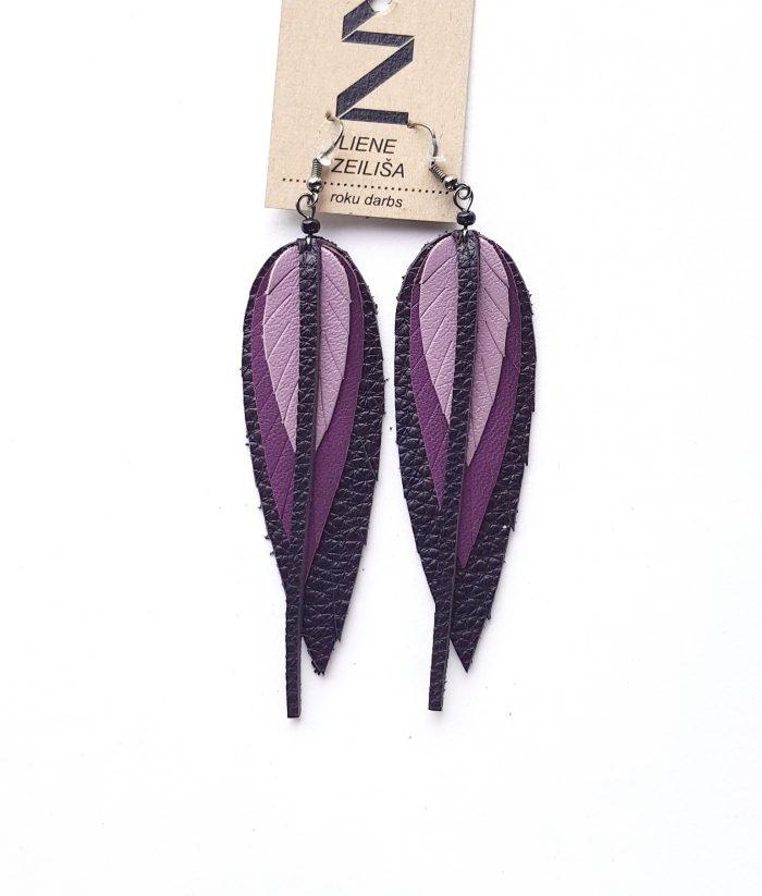 lapu auskari s violeti