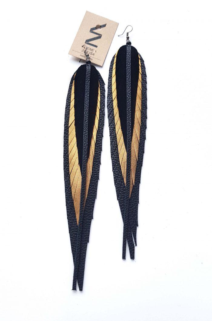garie xl lapu auskari melns & zelts #2